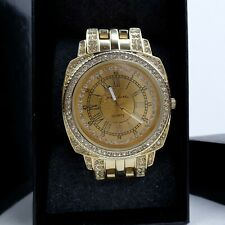 Womens Wrist Watch Crystal Susan Lucci Quartz Gold Tone