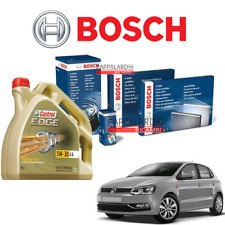 KIT TAGLIANDO FILTRI BOSCH + OLIO CASTROL VW POLO 6R 6C 1.4 TDI 55KW DAL 2014