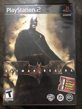 Batman Begins (Sony PlayStation 2, Ps2, 2005) Black Label Complete, Tested, Cib