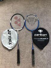 Yonex B550 Badminton Racket + Carlton Powerblade 3000 Both Used