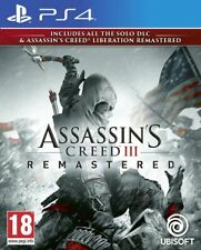 Assassin's Creed III 3 Remastered + Liberation & DLC PS4 * NEW SEALED PAL *