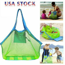 Large Mesh Beach Tote Bag for Outdoor Childrens Toy Bag Foldable & Lightweight