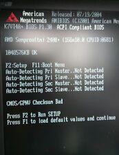 Scheda madre Motherboard ASRock K7VT4A+ 1Gb DDR + cpu Amd sempron 2400+