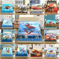 Marvel Superhero Fitted Sheet Set Pillowcase 100% Cotton Twin Full Queen Size