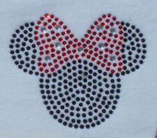 "2.5"" red Minnie Mouse iron on Disney rhinestone transfer DIY applique decal"