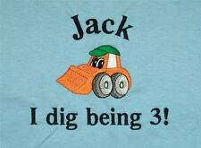 Personalized Construction Dump Truck Backhoe Front Loader Name or Birthday Shirt