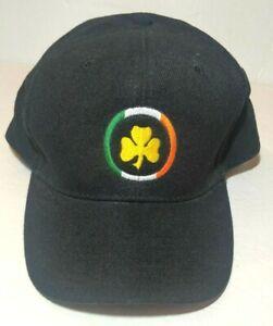 OTTO Hat Cap Irish Gold Clover Green/White/Orange Circle Frame Ships FAST BIN