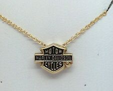 LADIES 14KT YELLOW GOLD HARLEY DAVIDSON PENDANT & CHAIN
