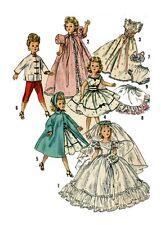 "Revlon Cissy by Ideal 21"" Doll Clothing PATTERNS 1808 Robe Pajamas Wedding dress"