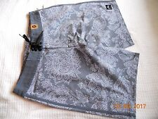 NWT RUSTY MENS GRAY FLORAL SWIM TRUNKS BOARD SHORTS~ SIZE 31