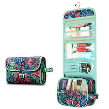 Womens Waterproof Travel Cosmetic Hanging Makeup Bag Toiletry Case Storage Pouch