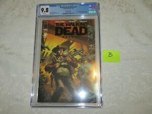 Skybound Exclusive Image The Walking Dead #1 Deluxe Black Foil Edition CGC 9.8 B