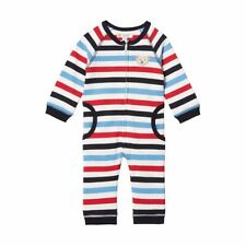 Steiff Newborn Boys Schlafanzug o Fuß 1/1 Arm gr. 62 blau / weiß / rot gestreift