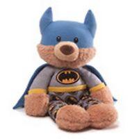 "GUND BEAR - 15""  DC COMICS -  BEDTIME BATMAN MALONE - GLOW IN THE DARK EMBLEM"