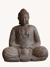 XXL Buddha 80 Cm Steinguss Gartendeko japanischer Steinbuddha