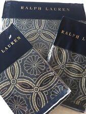 RALPH LAUREN ARTISAN LOFT MOORE BLUE DUVET COVER SET KING