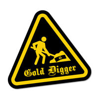 Gold Digger Sticker Funny Car Stickers Novelty Decals #7179HP