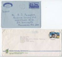 Three 1970s and 1980s Nigeria covers inc 2 aerogrammes [L.214]