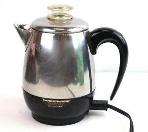 Vintage Farberware Superfast Coffee Percolator Pot 134C USA Working