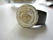 Bottone-TEMA-Spirale Bianco/Oro - 15mm-compatibile M. Charlotte Anello 21