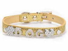 Glitter Personalized Pet Dog Puppy Collar Buckle Customized DIY Name Free Letter