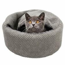 Winsterch Warming Cat Bed House Soft Pet Sofa Kitten Bed Small Dog Beds Gray