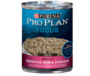 Wet Dog Food Purina Pro Plan Sensitive Stomach Salmon Rice Entree (12)13 Oz.Cans