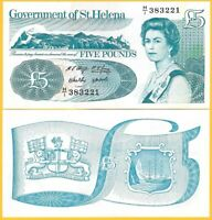 St Helena 5 Pounds p-11 1998 AUNC Banknote
