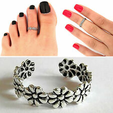 2pcs Celebrity Women Fashion Simple Retro Toe Ring Adjustable Foot Beach Jewelry