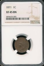 1871 Indian Cent NGC XF 45 BN *Semi-Key Date!*