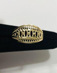 10K Yellow Gold Filigree Ring Size 7.5