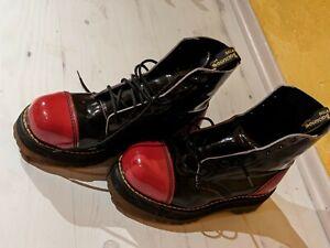 Dr Martens 39,5 schwarz-rot mit Stahlkappe