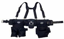Framers Tool Belt Rig Back Support Suspender Work Nail Pouches Carpenter Utility