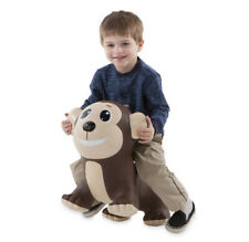 Bouncy Inflatable Animal Jump-Along for Toddlers - Monkey (hs)