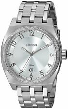 Nixon Women's A325-1874-00 Monopoly 40mm All Silver Crystal A3251874