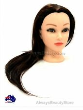 70% Real Human Hair Practice Hairdressing Training Head Mannequin Doll