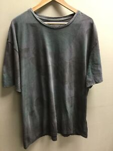 Men's All Saints Green Grey Como T Shirt UK XXL Oversized Fit