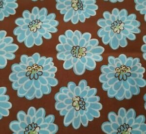 Botanical BTY Unbranded Blue Sage Green Ivory Floral Brown