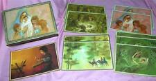 VTG BOX CORONATION  XMAS DEVOTION CARDS W 10 UNUSED CARDS & ENVELOPES