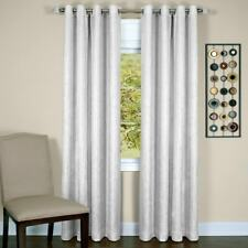 """Taylor Grommet Lined Curtain Panel White (50""""x 63"""") Achim"""
