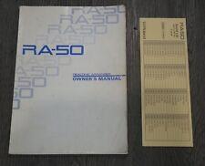 Roland RA-50 Real Time Arranger Midi Sound Module Manual