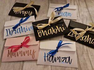 Personalised Envelope Gift Voucher Money Wallet