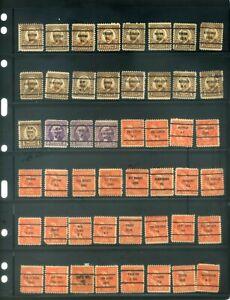 48 Piece US Precancel Collection TEN96
