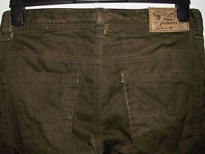 Diesel thavar-a slim-skinny fit trousers chinos wash 0GAAW W30 L31 (a2923)