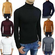 maglia maglioncino maglione a dolcevita da uomo collo alto gola lupetto slim fit