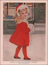 THURSDAYS CHILD Has Far to Go, Antique Print, Authentic 1910