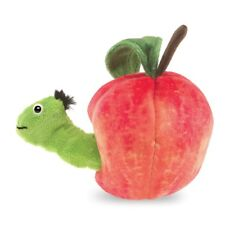 Worm in Apple Hand Puppet by Folkmanis, Finger Puppet in Apple, Boys & Girls