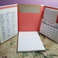 Vintage Notebook Memorandum 1978 Tri-fold Desktop Calendar Notepad Shopping List