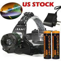 Ultra Bright 90000LM T6 LED 18650 Headlamp Light Torch Rechargeable Flashlight