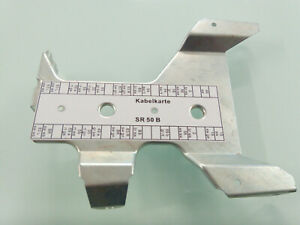 Kabelkarte Klemmleiste Schaltplan Simson SR50 SR80 wasserfest Aufkleber